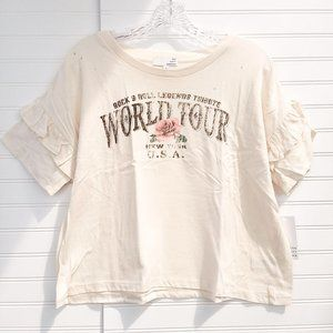 "Ten Sixty Sherman ""Rock & Roll"" Distressed T-Shirt"